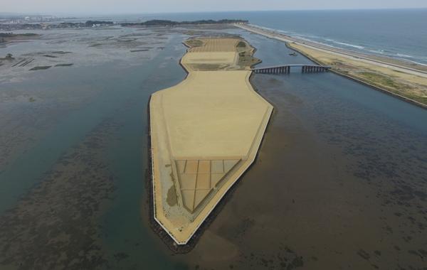 林地荒廃防止施設災害復旧工事(松川浦中洲)